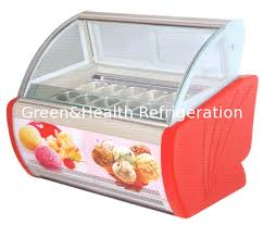 4 trays 20 trays countertop ice cream display freezer gelato freezer display