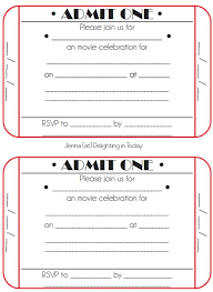 Free Ticket Invitation Template Magdalene Project Org