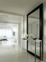 dining room with white frame black framed mirror wall size mirror black framed mirror large big