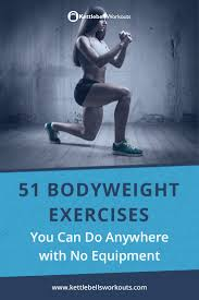 51 bodyweight exercises