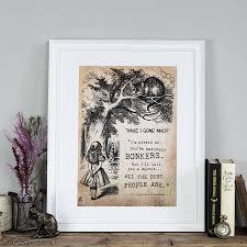 alice in wonderland bonkers print