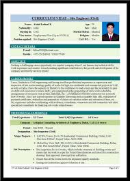 Civil Engineer Sample Resume Resume Templates Wonderful Sample Of Civil Engineer Intern O A Cv 18