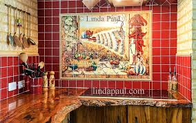 mexican tiles kitchen chili pepper mural with red tile wood talavera tile kitchen ideas