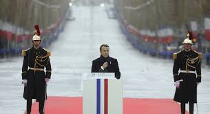 Image result for speech by emmanuel macron in english at the anniversary