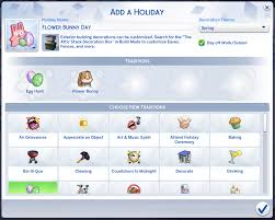 Creating & Completing Holidays and Traditions - Sims Online