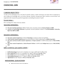 Resume Format For Teachers Job How To Make Cv For Teaching Job