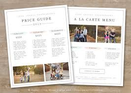 Price List Templates Delectable Photography Price List Template Photography Pricing Guide Etsy