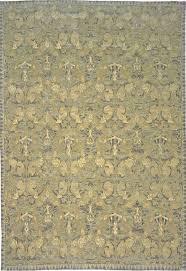 blue gold green textured spanish oriental rug