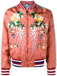 orange fl embroidered er jacket