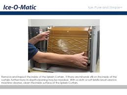 ice o matic ice machine cleaning and maintenance ice o matic ice machine cleaning and maintenance