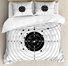 black and white duvet cover set target numbers and bullet holes shooting polygon training ilration bedding set twin bedding king duvet covers from