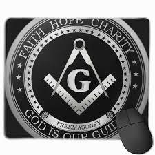 Freemason Design Masonic Faith Hope And Charity Freemason Logo Personalized Design Mouse Pad Gaming Mouse Pad With Stitched Edges Mousepads Non Slip Rubber Base