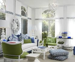 blue and white furniture. 35456-White-Living-Room-With-Blue-Green-Accents Blue And White Furniture