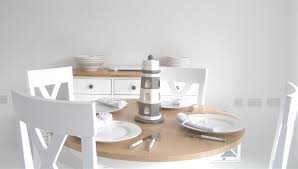 nice white dining room sets with image of painting on ideas home round white kitchen table
