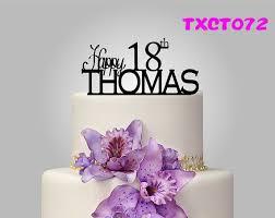 Customized Black Gold Silver Happy Birthday Cake Topper Acrylic