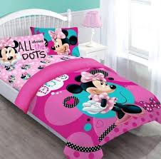 mouse twin comforter set bedding pillowcase fitted sheet pink girl minnie target