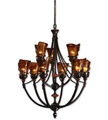 uttermost vitalia 9 lt chandelier in oil rubbed bronze 21228 photo