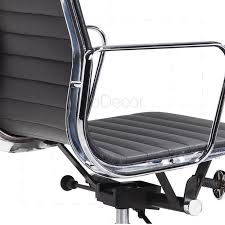 mid aluminum office chair white italian. Eames Office Chair Low Back Ribbed Black Leather - Reproduction Mid Aluminum White Italian