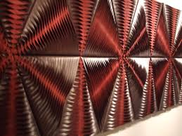 leaf wool and leather acoustic wall panel by anne
