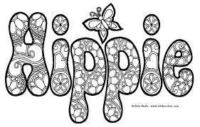 Small Picture Hippie Coloring Pages Inspirational Hippie Coloring Pages