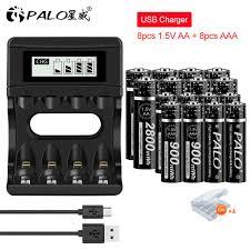 PALO AA 1.5V + Pin Sạc AAA 1.5V AA 2800mWh + 1.5V AAA 900mWh Lithium 1.5V pin  Sạc Dự Phòng Cho Cho Đồ Chơi Đồng Hồ Camera|Pin sạc