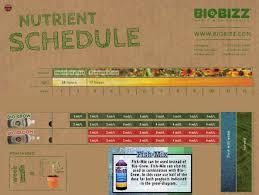 Biobizz Feeding Chart Soil Biobizz Bio Grow