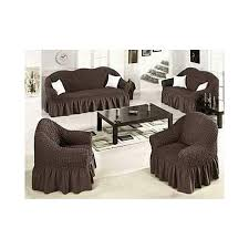 sofa seat covers 3 2 1 1 chocolate brown