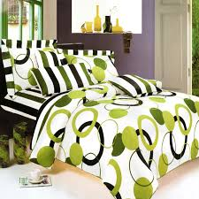 artistic green twin duvet style comforter set photo