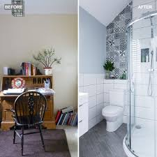 bathroom designing.  Bathroom Before And After U2013 A Compact Study Becomes Smart Shower Room In Bathroom Designing