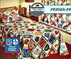nfl bedding sets national football league sheets sears fall catalog bed huddles vintage s from the nfl bedding sets