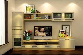 British modern bedroom TV cabinet combo 3D House