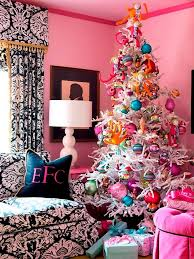 pink family room bedroom black white wallpaper girly white tree candy ornaments candyland kids ecorating