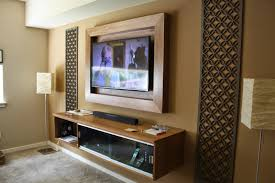 Wall Mounted Tv Frame Ash And Walnut Llc Custom Built Ins For Your Home 60 Wall