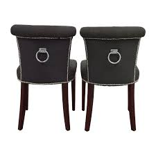 safavieh en vogue sinclair charcoal nailhead ring chairs safavieh chairs