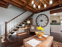 Living Room Large Wall Decorating Using Wall Clock For Home Decoration Ward Log Homes
