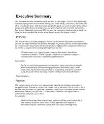 executive summary example business executive summary template executive summary template template