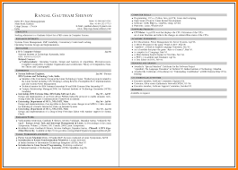 5 Example Of Two Page Resume