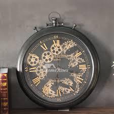 gear wall clock cool decorative modern