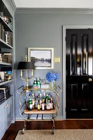 Office interior doors Solid Wood Elegant Bar Cart In Traditional Home Office The Glass Door Store Bold Black Interior Doors Inspiration And Tips Hgtvs Decorating