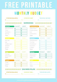 Budget Worksheets Household Budget Template Budget Template For ...