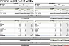 Personal Weekly Budget Template | Budget Template Free
