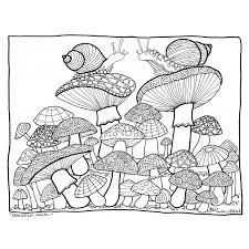 mushroom coloring pages free tigersroar info