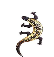 Solar Light Gecko Wall Art Solar Gecko Illuminated Wall Art Amazon Co Uk Lighting