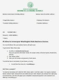 Washington Annual Report And Business License Renewal Change ...