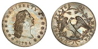 1794 Flowing Hair Silver Dollar Silver Plug Unique And