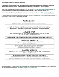 Examples Of Branding Statements For A Resume 10 Personal Brand Statement Samples Proposal Letter