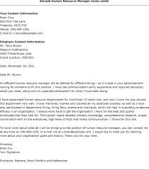 Cover Letter Sample Hr Manager Letters Human Resources Associate