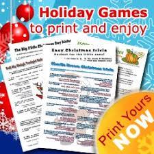 Printable Christmas games for all the family