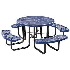 school lunch table. Amazing Of Outdoor Lunch Tables Paw And Bone Print 46 In Round Expanded Metal Picnic Table School