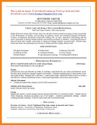Childcare Resume 100 child care resume sample enclosure format 40